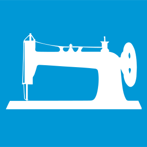 sewing machine blue